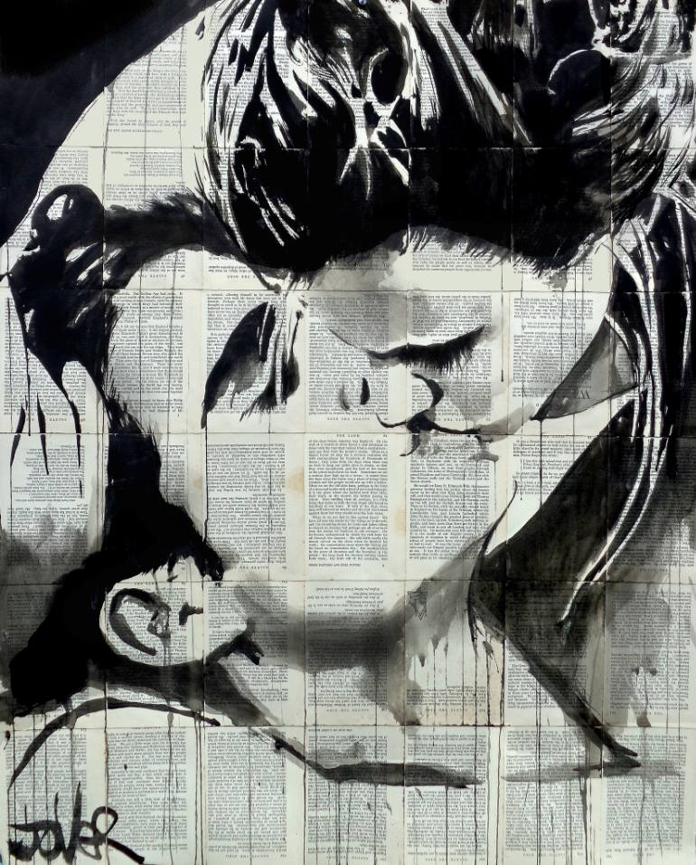 KissingDrawingbyLOUI JOVER